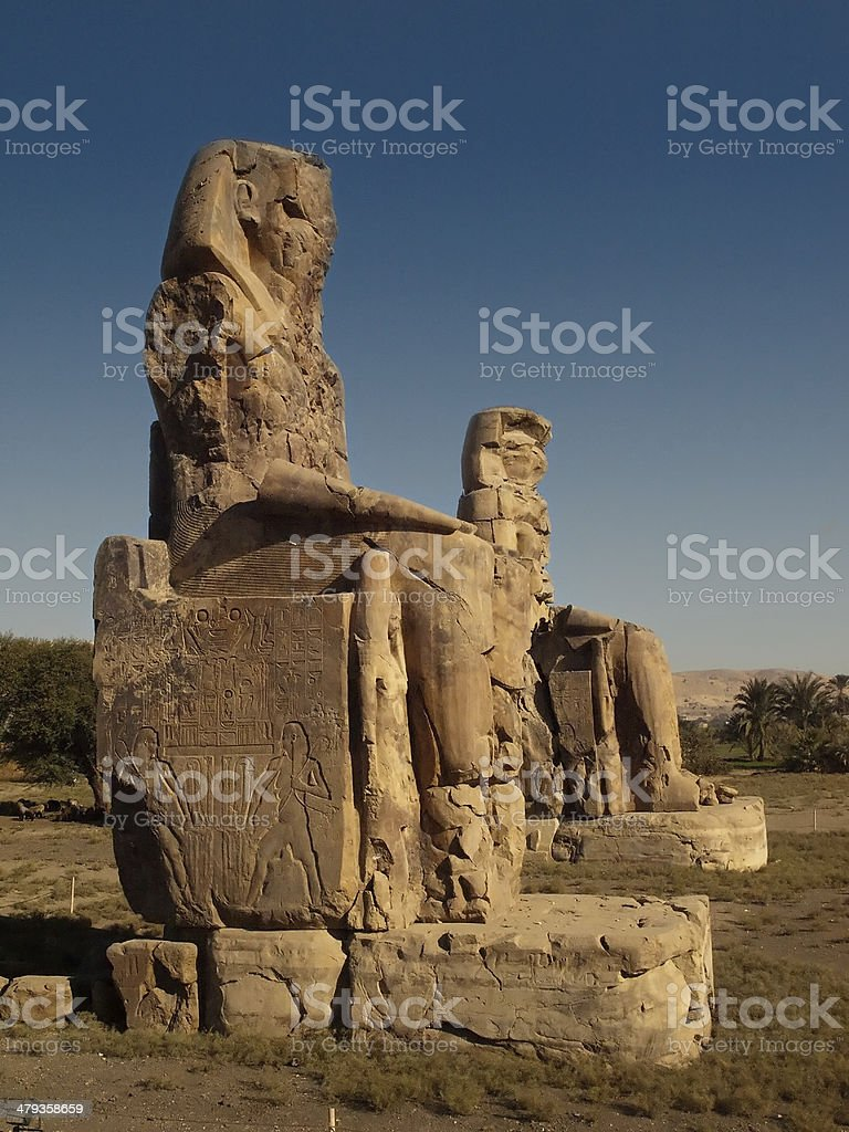 Memnon Colossi stock photo