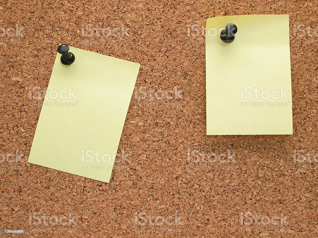 Memo board and note royalty-free stock photo