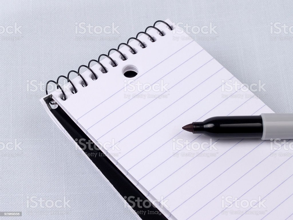 Memo Pad and Marker royalty-free stock photo