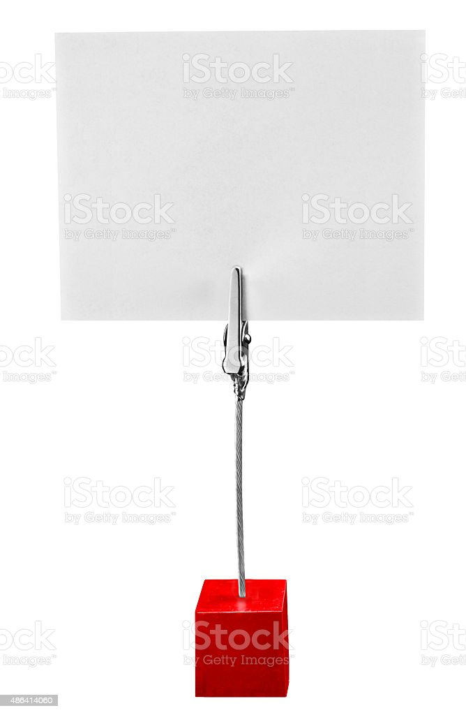 Memo paper holder isolated on the white background stock photo