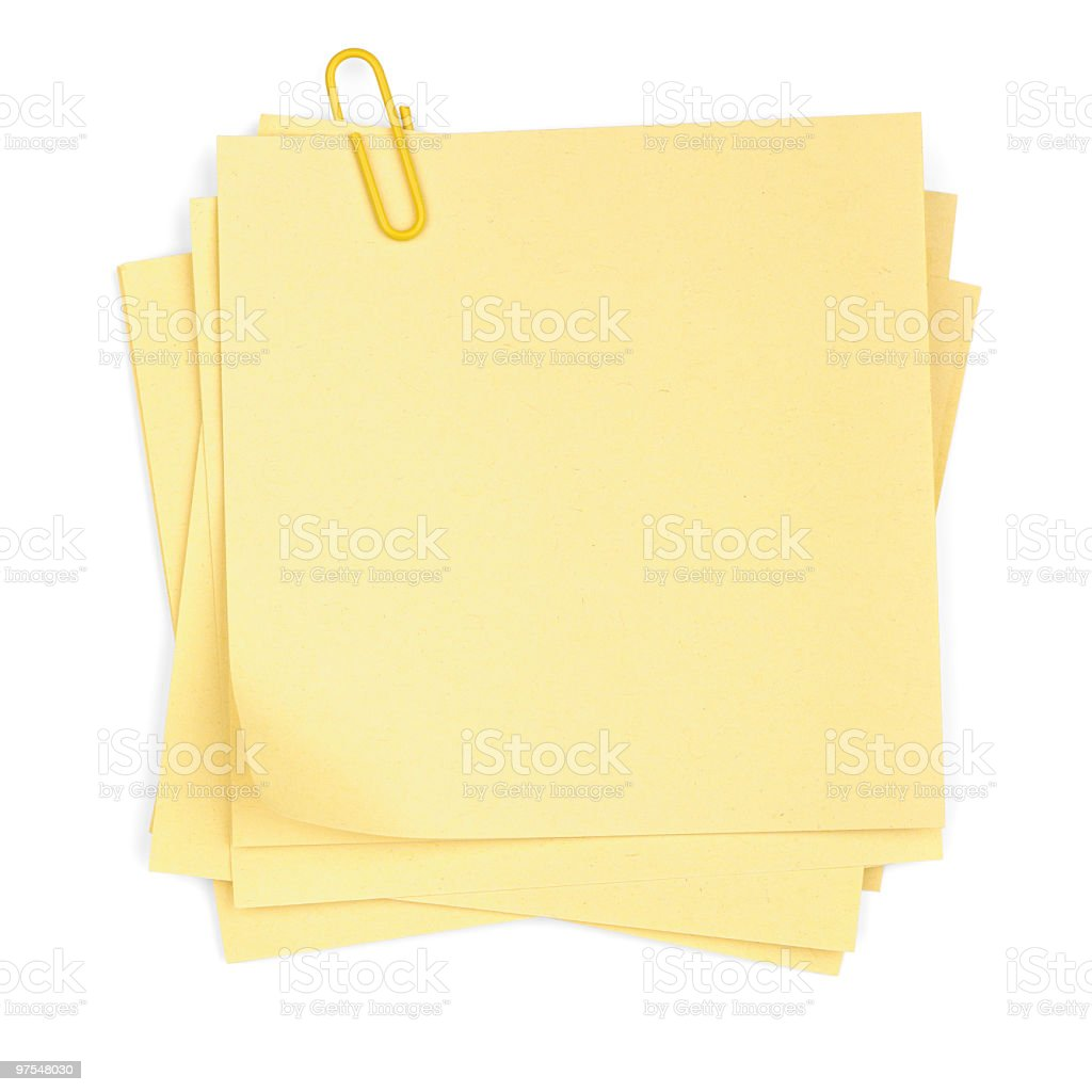 Memo Stack with Paper Clip royalty-free stock photo