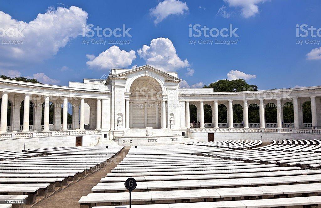Memorial Amphitheater at Arlington National Cemetery royalty-free stock photo