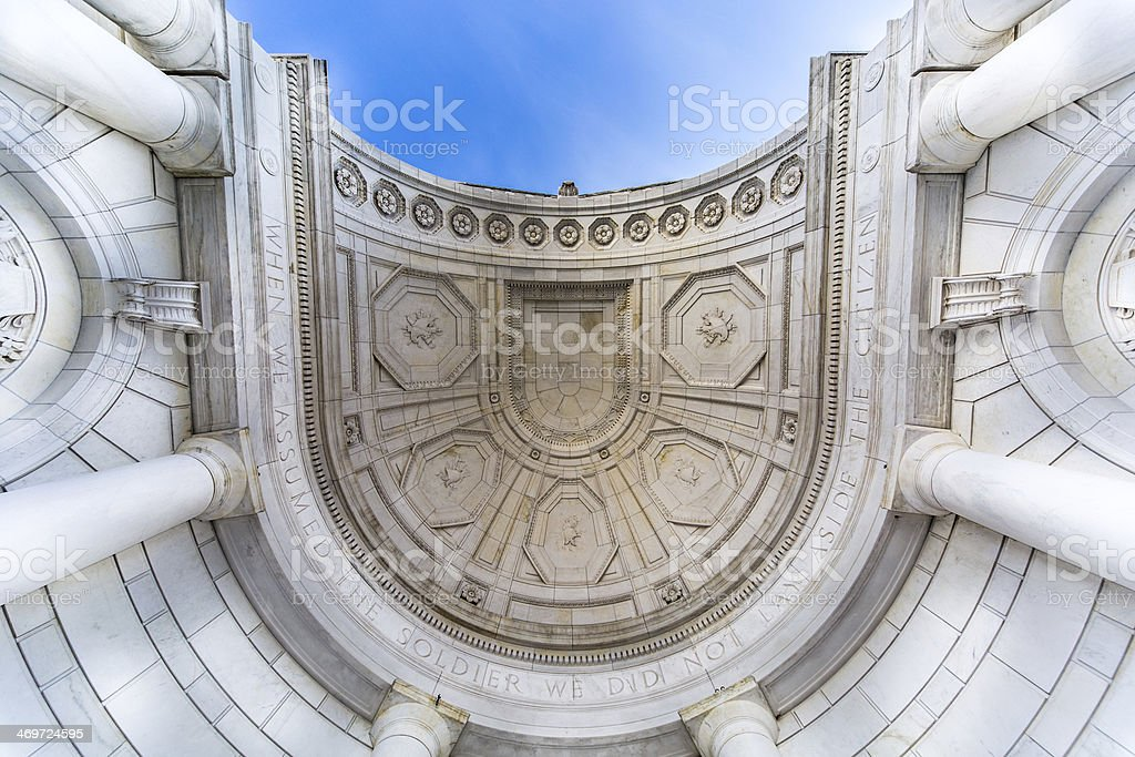 Memorial Amphitheater at Arlington National Cemetery stock photo