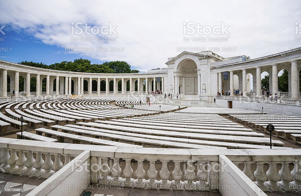 Memorial Amphitheater at Arlington National Cemetery, Virginia, USA royalty-free stock photo