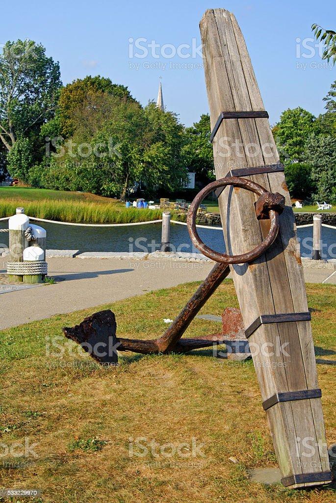 Memorial anchor stock photo