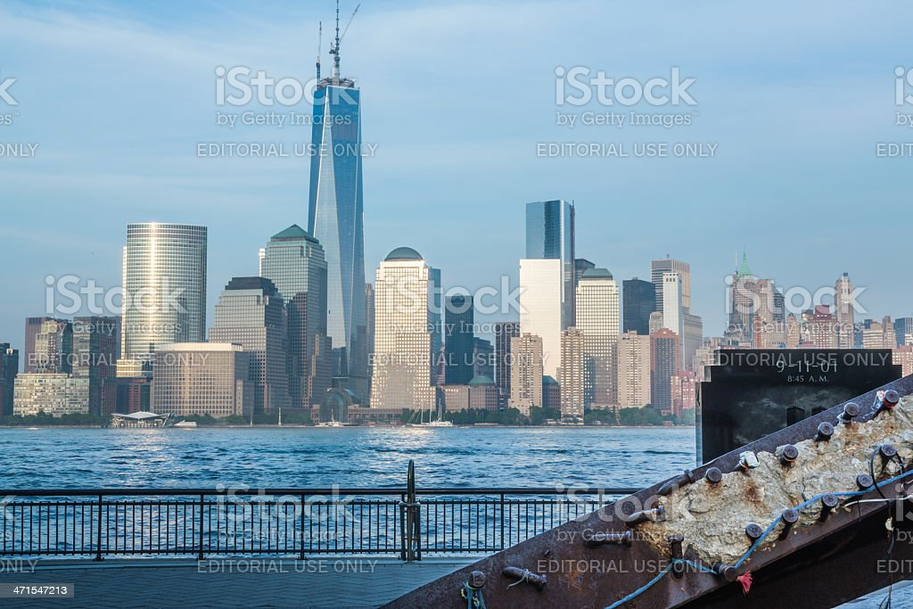 9-11-01 Memorial at Exchange Place Jersey City royalty-free stock photo