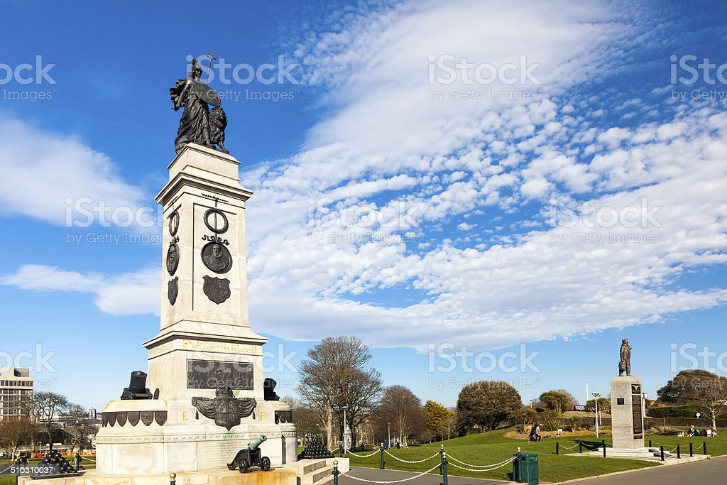 Memorial at Plymouth Hoe, Devon stock photo