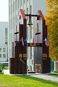 Memorial Bell of Nagasaki at Independence Square, Minsk, Belarus