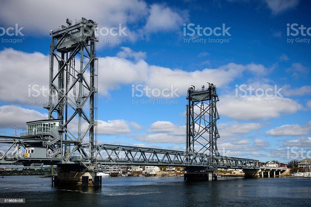 Memorial Bridge, Portsmouth, New Hampshire stock photo