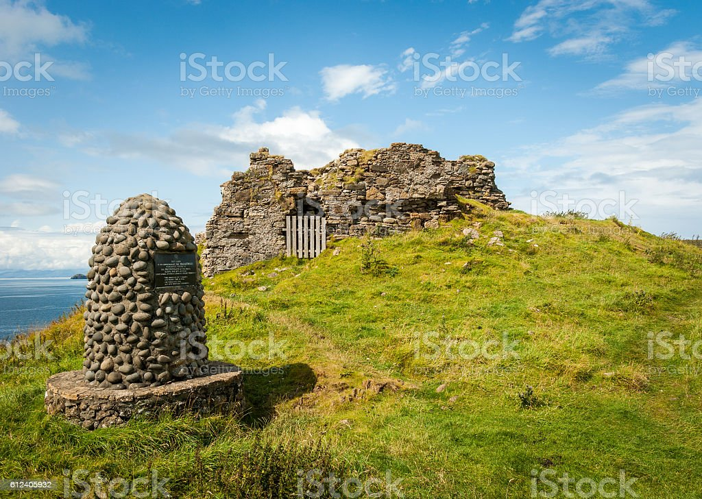 Memorial Cairn on Isle of Skye stock photo