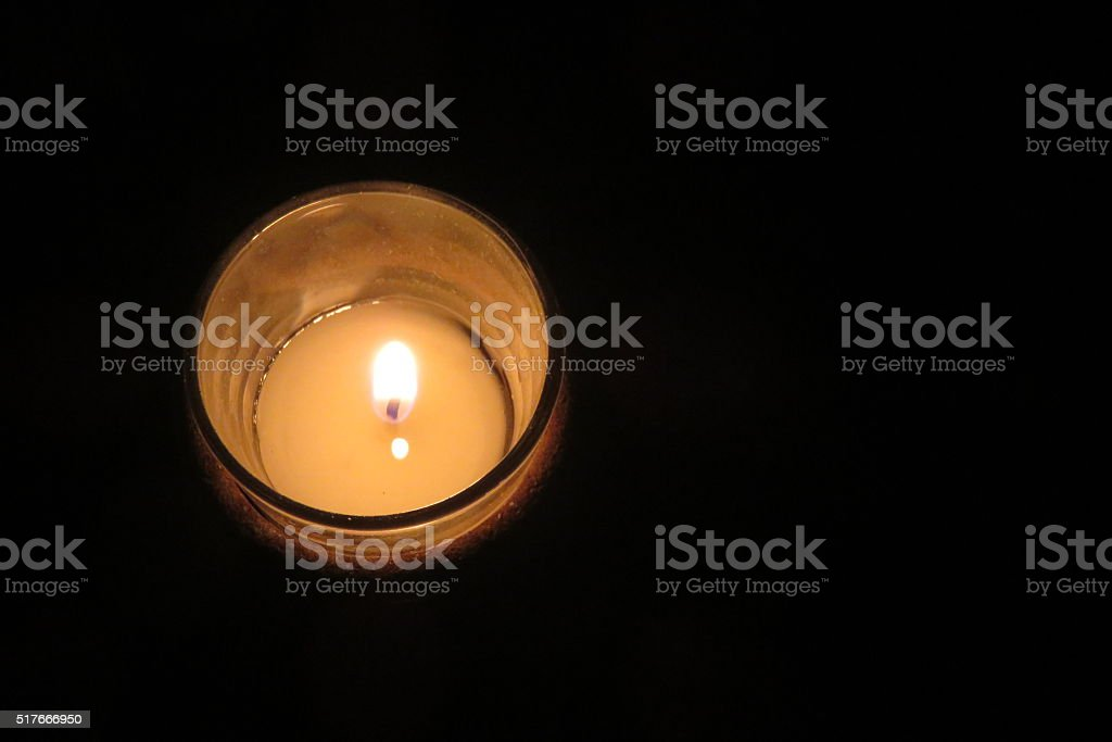 memorial candle stock photo
