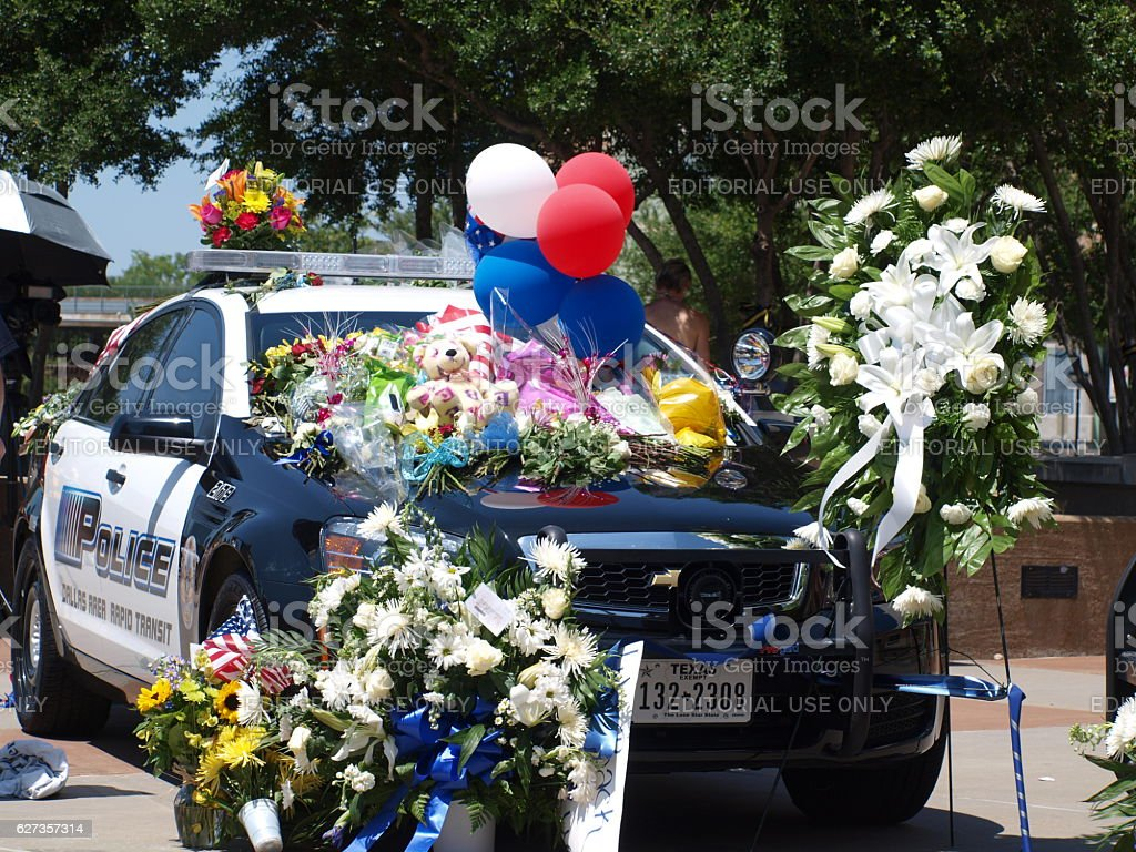 Memorial Cars at Jack Evans Police Headquarters stock photo