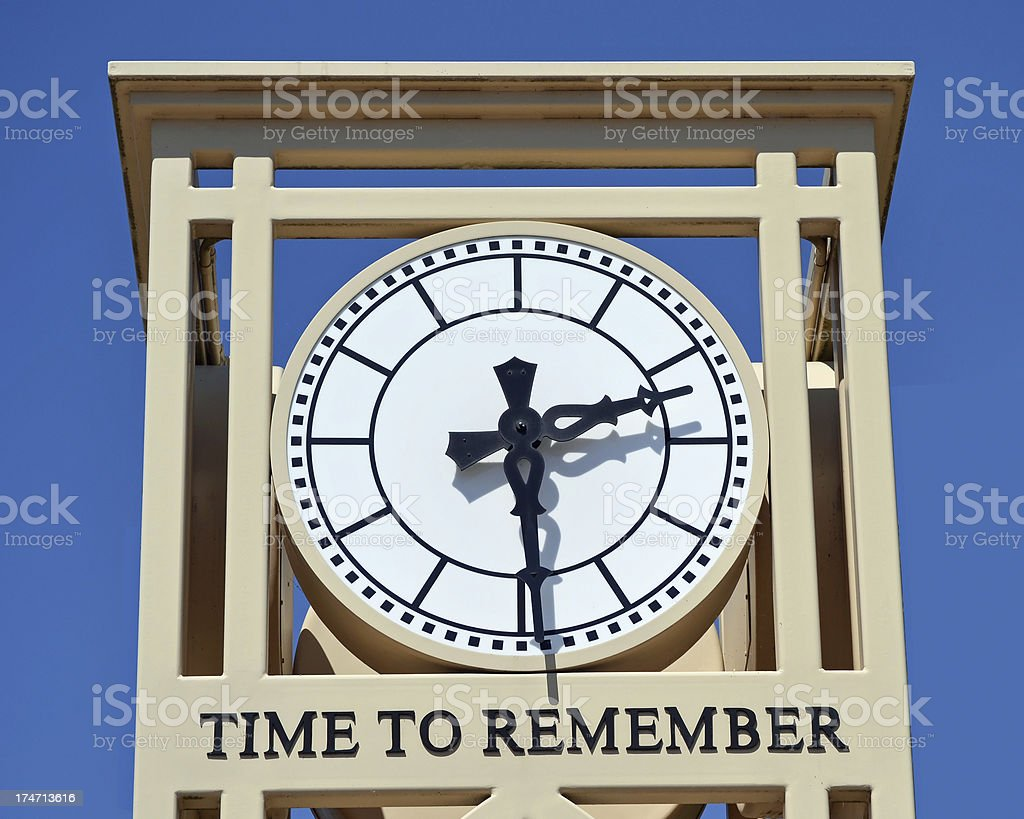 Memorial Clock royalty-free stock photo