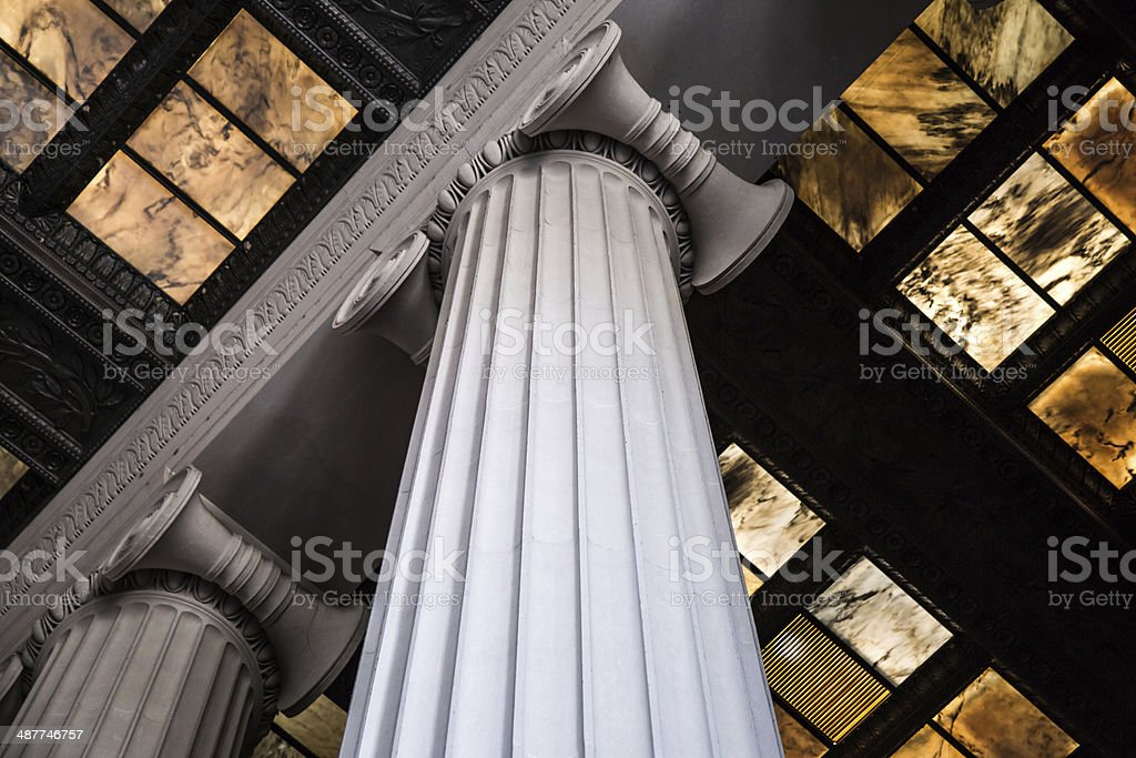 DC Memorial Columns stock photo