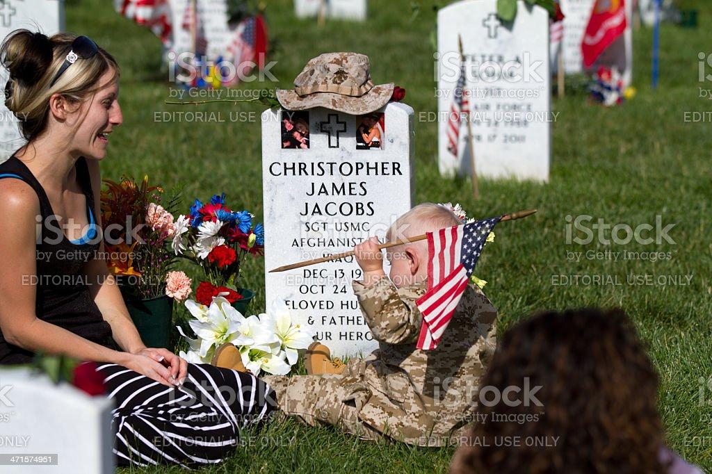 Memorial Day, Arlington National Cemetery royalty-free stock photo