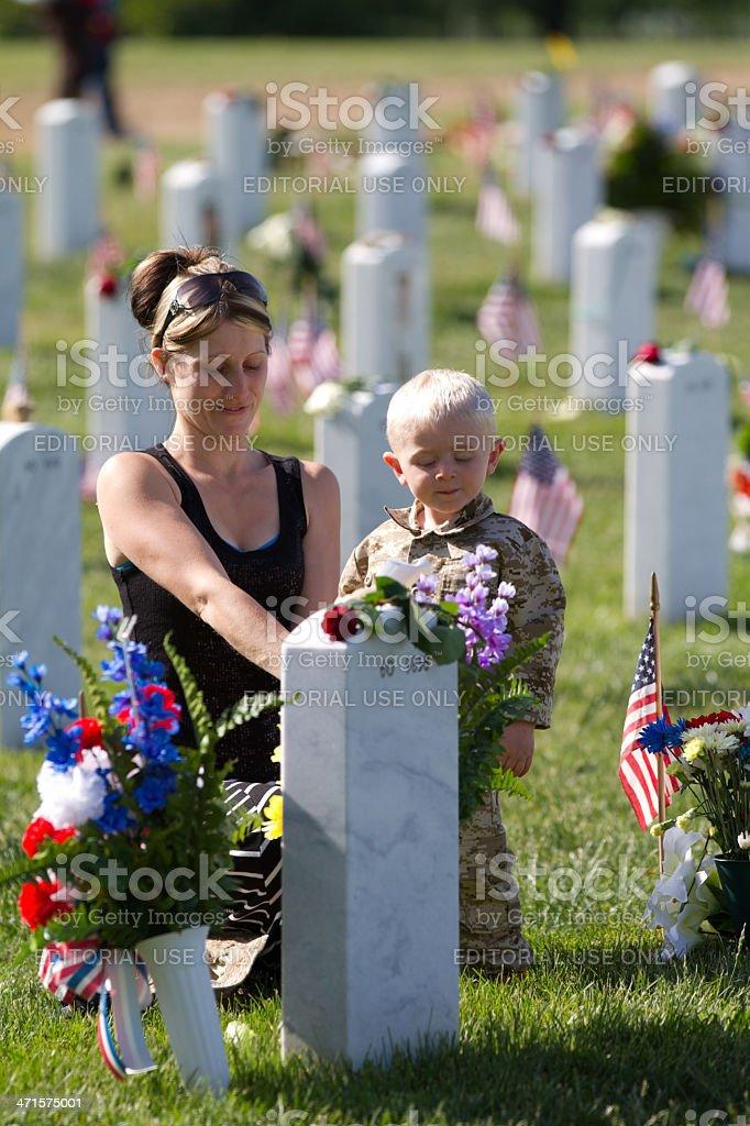 Memorial Day, Arlington National Cemetery stock photo
