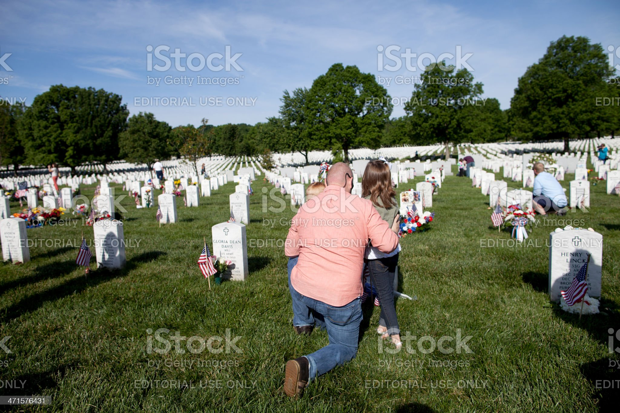 Memorial Day, Arlington National Cemetery royalty-free stock photo