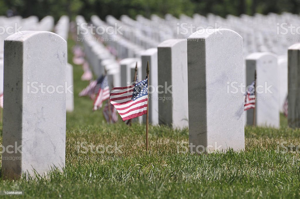 Memorial Day at Arlington Cemetery stock photo