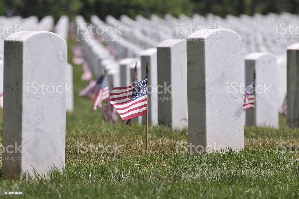 Memorial Day at Arlington Cemetery stock photo