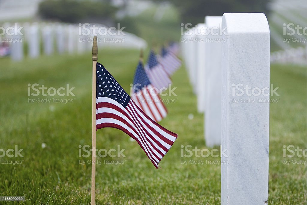 Memorial Day at the Cemetery stock photo