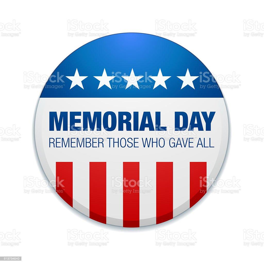 Memorial Day Badge stock photo