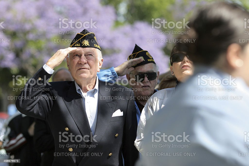 Memorial Day Ceremony royalty-free stock photo