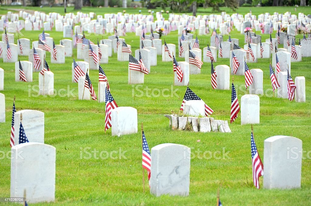 Memorial Day Flags stock photo
