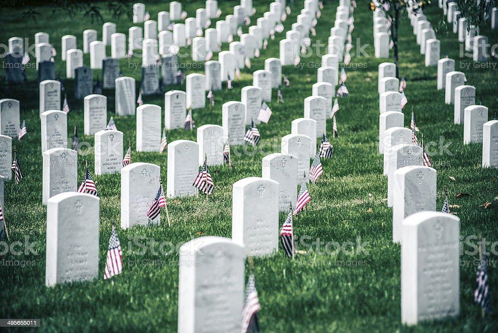 Memorial Day in Arlington National Cementery stock photo