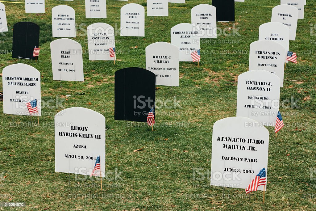 memorial day in San Diego stock photo