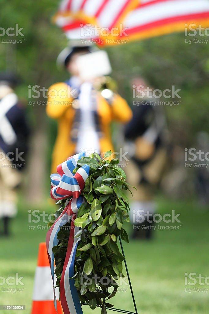 Memorial Day Trumpeting stock photo
