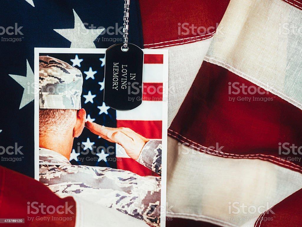 Memorial Day. Veterans Day. Military Memorial. In loving memory stock photo
