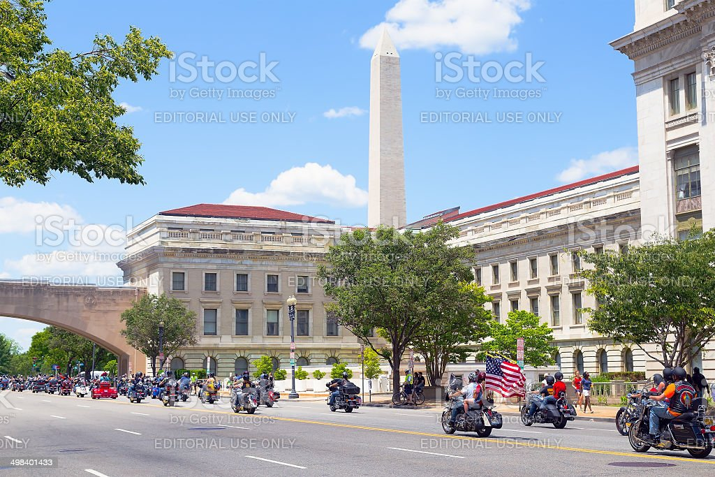 Memorial Day weekend in Washington DC. stock photo