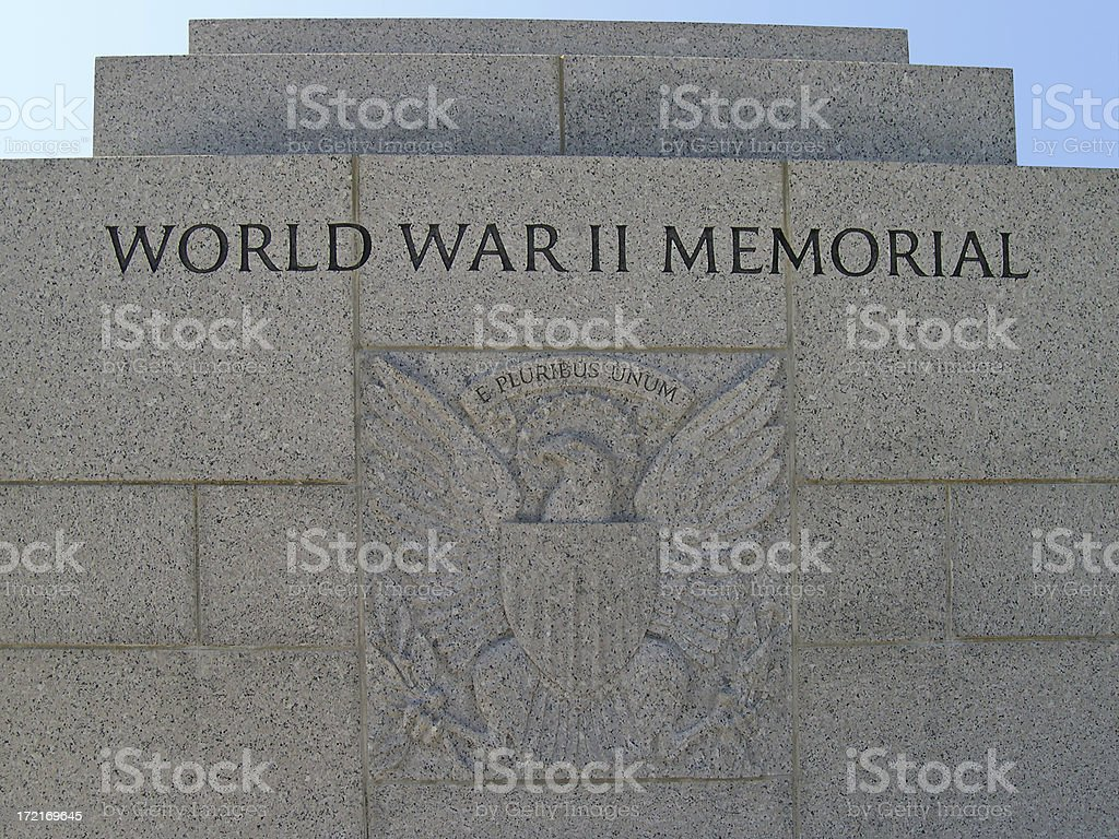 WWII Memorial Entrance stock photo