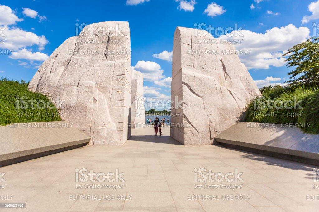 MLK memorial entry point stock photo