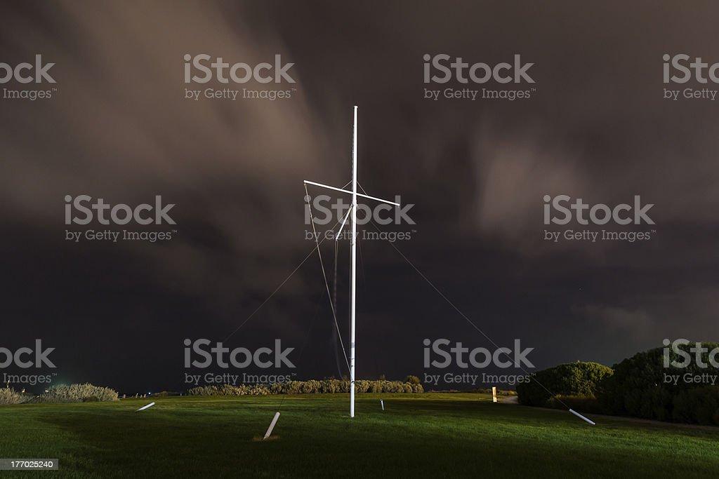 Memorial Flag Pole - Williamstown stock photo