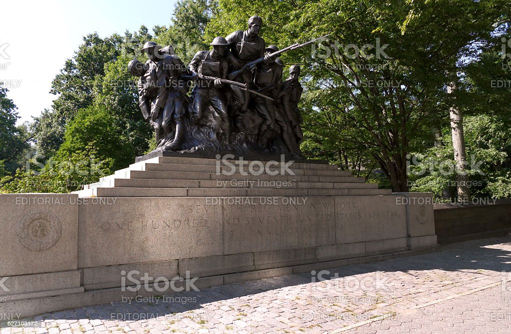 WWI memorial for the 7th Regiment of New York Militia stock photo
