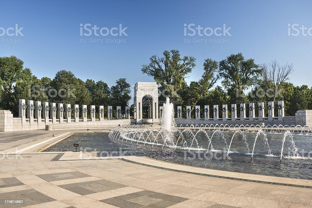 WW II Memorial fountain Washington D.C. royalty-free stock photo