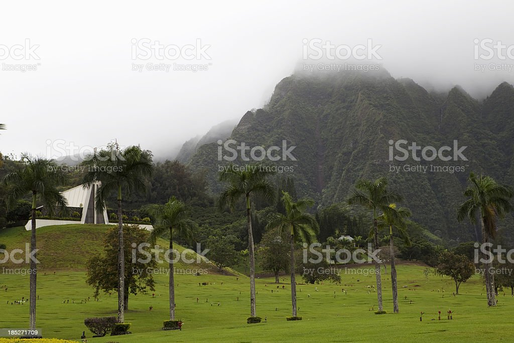 Memorial Garden North Shore Oahu royalty-free stock photo
