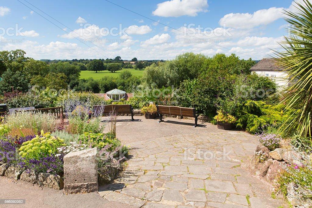 Memorial garden Ross-on-Wye town Herefordshire England UK stock photo