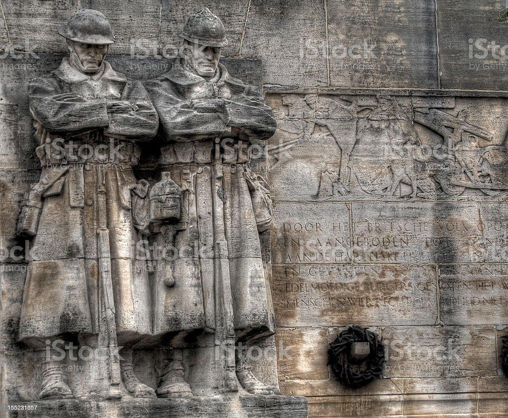 WWI Memorial in Brussels, Belgium royalty-free stock photo