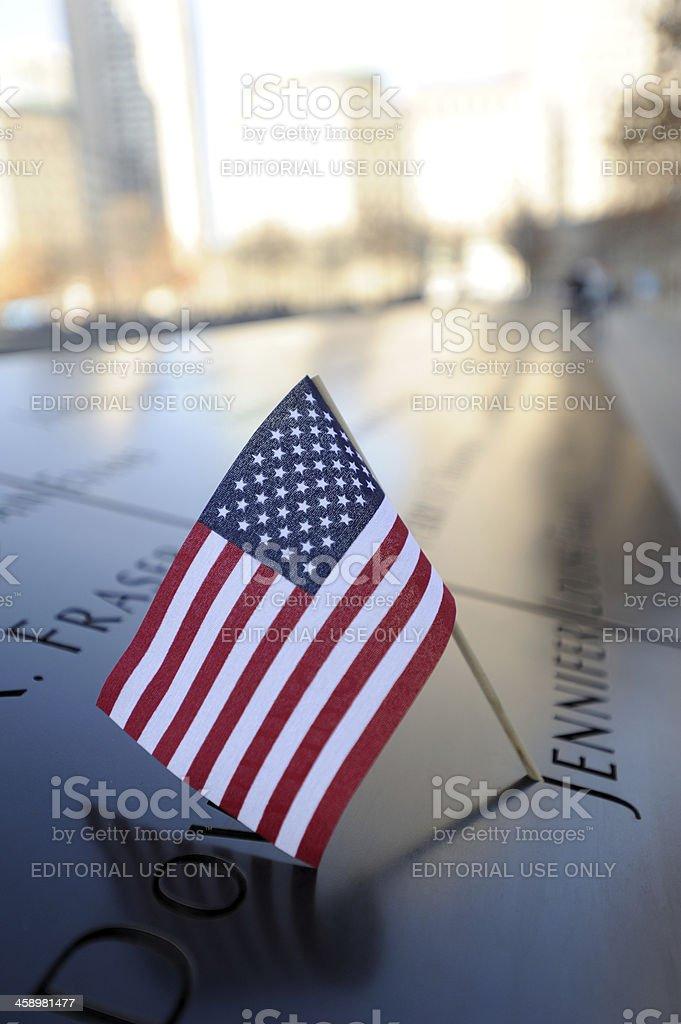 9/11 Memorial in New York stock photo