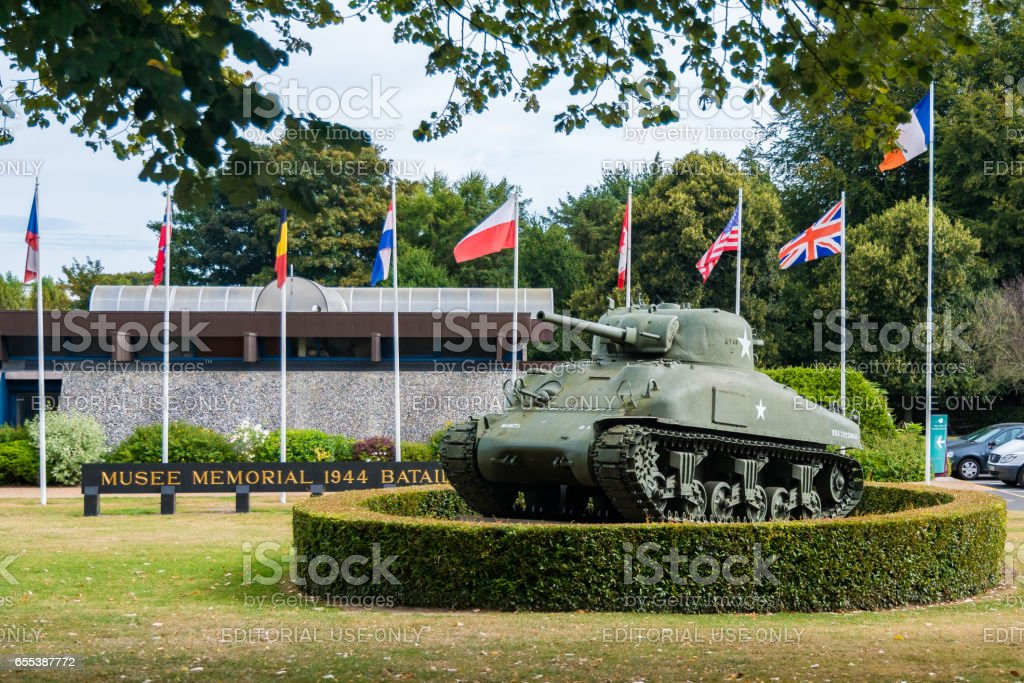 Memorial Museum of the Battle of Normandy in Bayeux stock photo