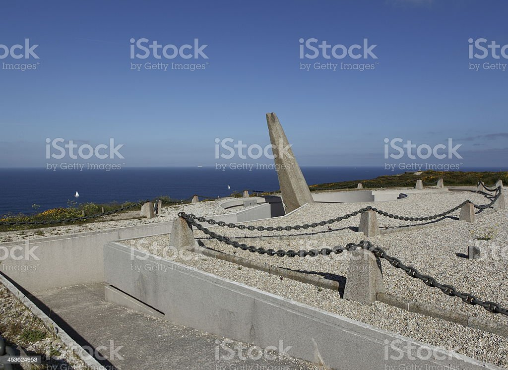 Memorial naval aviation at Cap de la Chevre stock photo