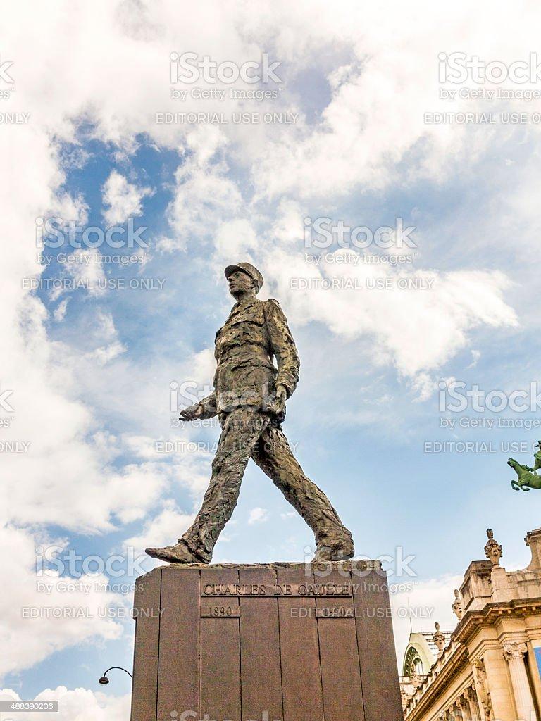 memorial of Charles de Gaulle   in Paris stock photo