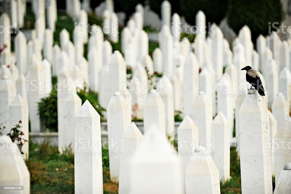 Muslim graves in the cemetery dedicated to the victims of the Siege...