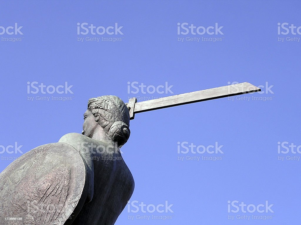 Memorial of woman with sword royalty-free stock photo