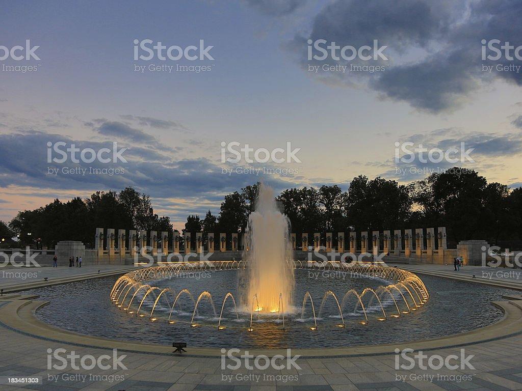 WW II memorial royalty-free stock photo