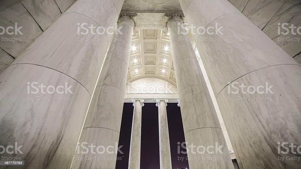 Memorial Pillars At Night stock photo