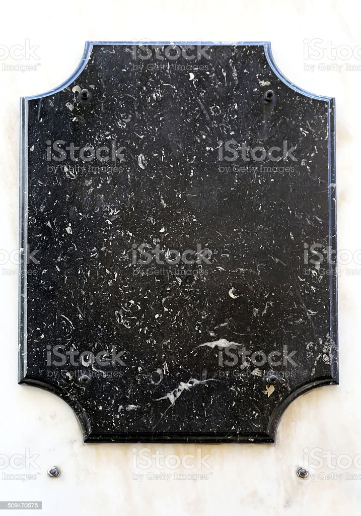 Memorial Plaque stock photo