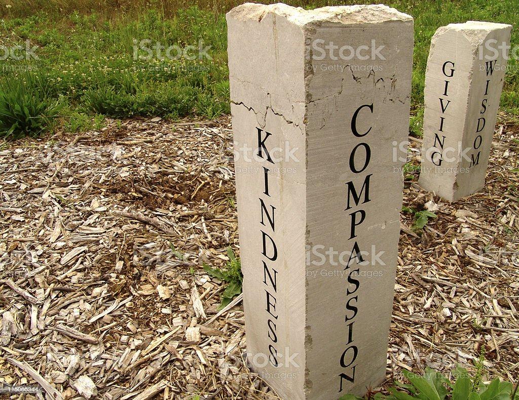 memorial stones royalty-free stock photo